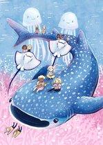 Schattige Walvishaai A3 poster | Fantasy Kinderkamer