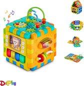 DePlay 6-in-1 Activiteiten Kubus - Interactieve Kubus - Activity Center - Speelgoed - Blokkendoos - Piano - Rammelaar - Disney -  Mickey Mouse - Spiegel  - 6 Speelvlakken Loskoppelen – Leren Klokkijken