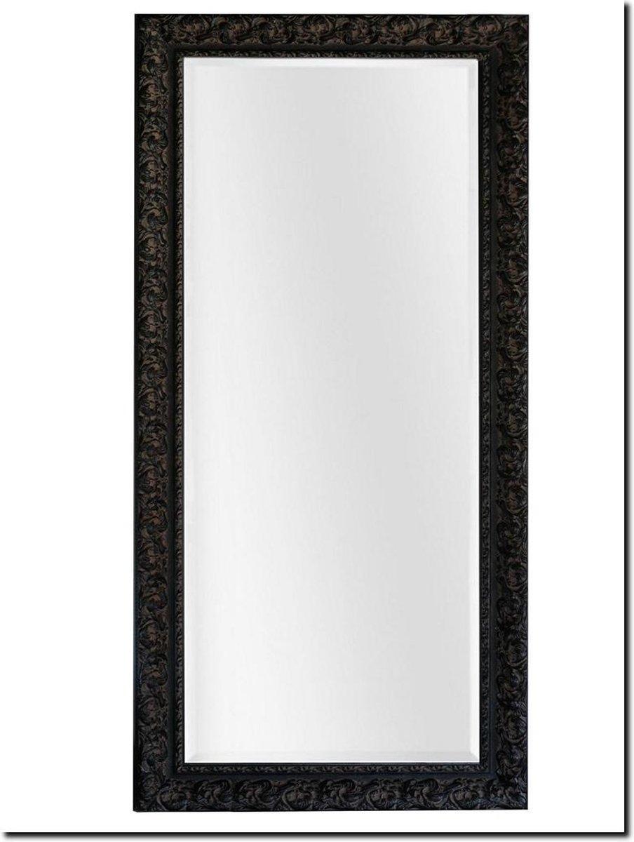Spiegel Antonio Napoli Antiekzwart Buitenmaat 105x205cm