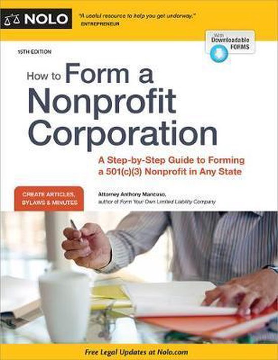 Boek cover How to Form a Nonprofit Corporation (National Edition) van Anthony Mancuso, Attorney (Paperback)
