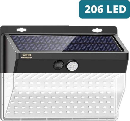 Oak power+ Solar Sensor Light - Tuinverlichting op zonneenergie - Solar buitenverlichting - 206 LED
