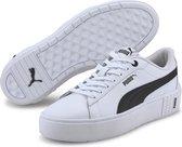 PUMA Smash Platform v2 L Dames Sneakers - White/Black - Maat 37.5