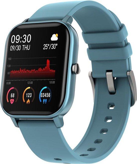 Colmi P8 Smart Watch / Fitness Tracker met hartslag- en bloeddrukmeter, slaapmonitor & meldingen - Blauw - Android & iOS - Waterdicht