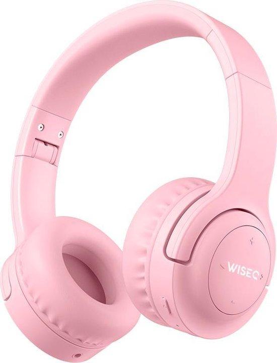 WISEQ Hero Draadloze Koptelefoon Voor Kinderen - Bluetooth - Microfoon - Tot 12 Jaar - Roze - Tip van Sinterklaas