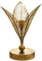 Atmosphera lamp goud blad - Tafellamp - Nachtlamp - Art deco lamp - H24.5