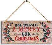 Kerst Wanddecoratie/accessoires- hout