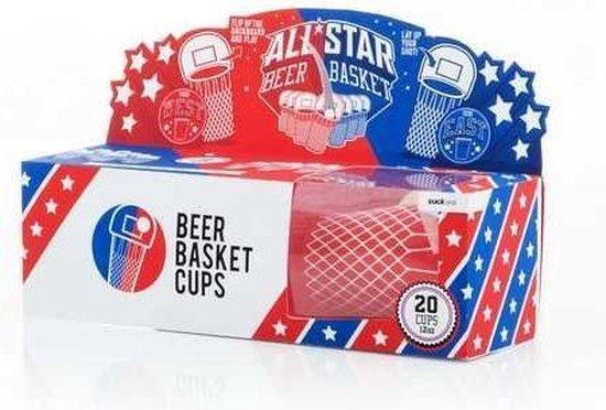 Afbeelding van het spel Suck Uk Basketbal Drankspel 350 Ml Rood/blauw Karton 20 Stuks