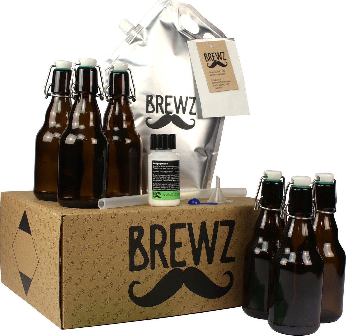 Zelf bier brouwen pakket IPA, inclusief beugelflesjes, etiketten, web-app, video instructie en sms -