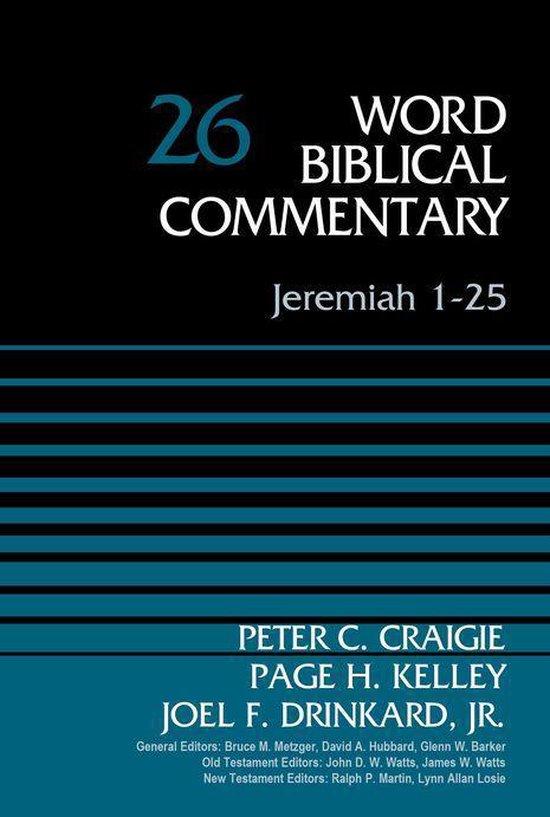 Boek cover Jeremiah 1-25, Volume 26 van Peter C. Craigie (Onbekend)