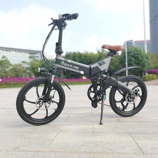 Elektrische fiets - Elektrische Vouwfiets - Eco Flying F501 - Zwart /Grijs