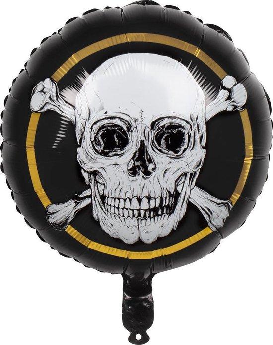 Boland - Decoratie - Piraten Helium Ballon Doodskop 45cm leeg