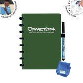Correctbook Original A5 Forest Green - gelijnd - Uitwisbaar / Whiteboard Notitieboek