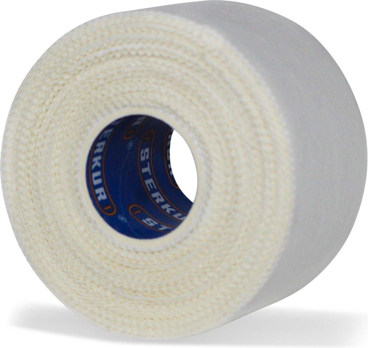 Sterkur  Sporttape Classic 3.8cm * 10m - Geschikt voor enkels en handen - Blessure tape - Witte spor