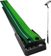 3 m golf oefenmat/oefenbaan met 2 golf gaten en  3 golfballen