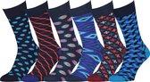 Easton Marlowe Sokken 6 Paar 43-46 - Funny Socks - Blauw - Naadloos