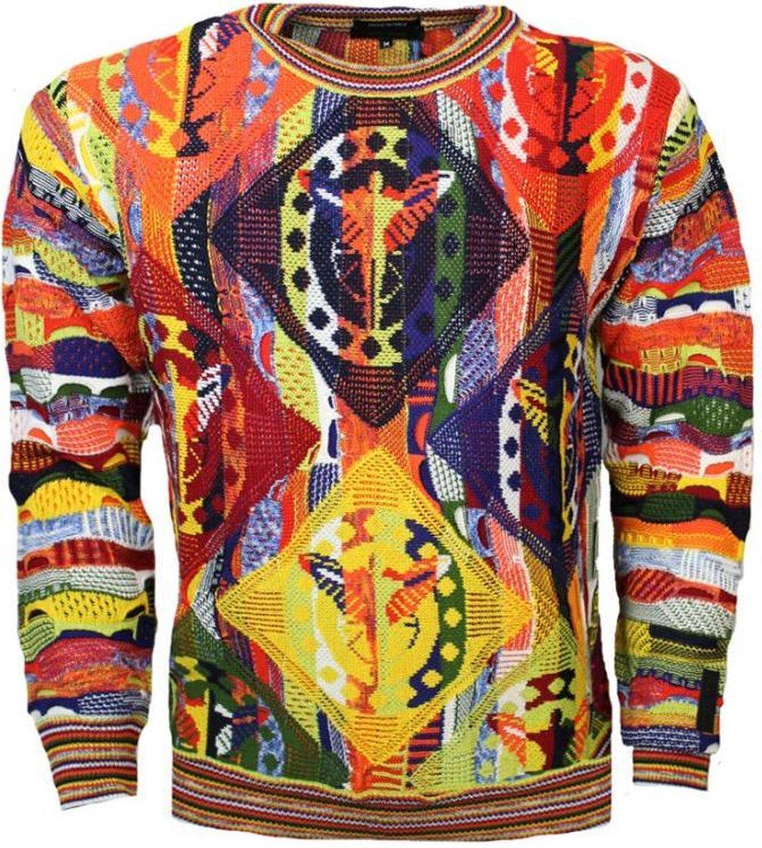 Bol Com Carlo Colucci Sweater C9304 Oranje Xs