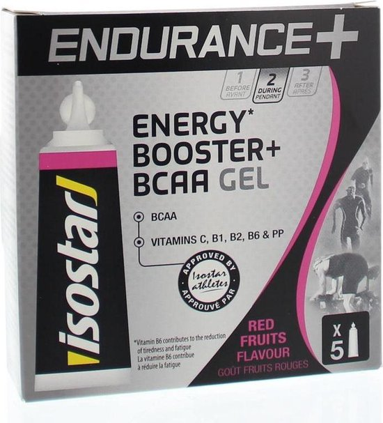 Isostar Endurance+ Energy Booster+ BCAA Gel Energiegel - 5 stuks