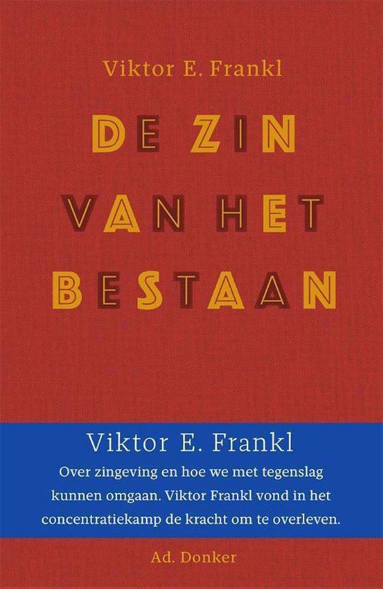 Boek cover De zin van het bestaan van Viktor Frankl (Hardcover)