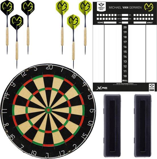 Dragon darts - Michael van Gerwen - Starterset 180 - dartset - inclusief 2 sets - michael van gerwen dartpijlen - inclusief MvG whiteboard