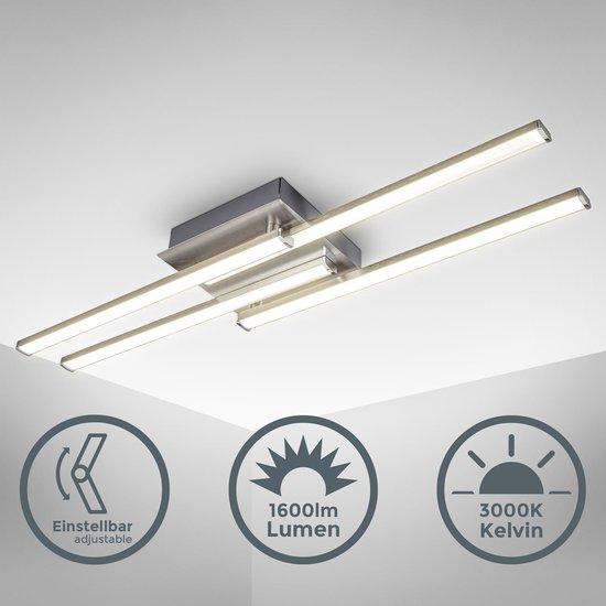 Bol Com B K Licht Plafondlamp Zwenkbaar Modern Plafoniere Woonkamer Lamp Incl 20w Led