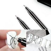 Nail Art Pen - Nagelversiering Graffiti penseel - Nagel Tekening - Zwart