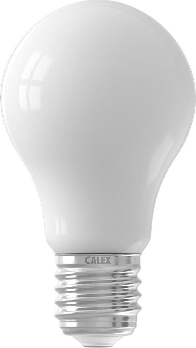 CALEX - LED Lamp - Smart LED A60 - E27 Fitting - Dimbaar - 7W - Aanpasbare Kleur CCT - Mat Wit - BSE