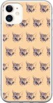 BEANIE case - TPU-siliconen transparante back case, telefoonhoesje met kattenpatroon van Beanie the cat - Brits Korthaar kattenhoesje voor de Apple iphone 11 (pro)