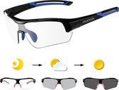 Falkann Elite Fietsbril / Sportbril Blauw - Met Meekleurende Glazen