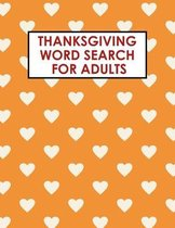 Thanksgiving Word Search for Adults