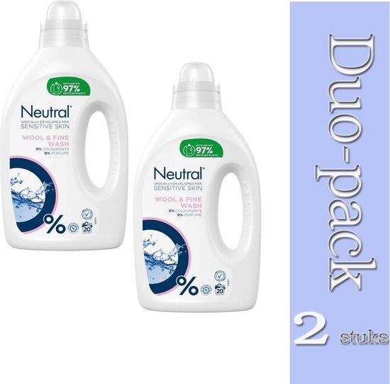 """""""Duo pack-2x Neutral Vloeibaar Fijnwasmiddel - Wasmiddel - 1000 ml-8710447488003"""