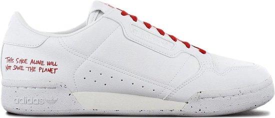 adidas Sneakers - Maat 46 - Unisex - wit,rood