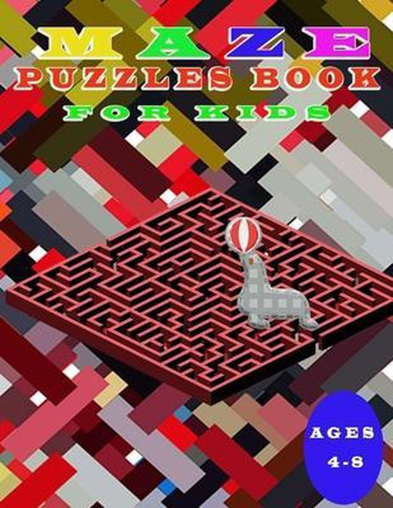 Maze Puzzles book for Kids 4-8