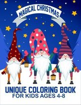 Magical Christmas Unique Coloring Book For Kids