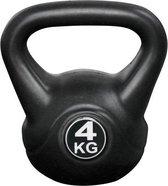 Kettlebell 4kg voor binnen en buiten - Kunststof - Zwart