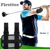 Firsttee Elleboogcorrector - Met CORRECTIEGELUID & ADEMEND - Elleboog - Correctie - Corrector - Swingtrainer - Golf swing - Golf accessoires - Trainingsmaterialen - Cadeau - Golfballen - Golftrainingsmateriaal - Golfmat afslaan - Houding - Golfset