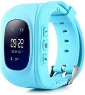 Kinder Smartwatch - Lichtblauw - GPS - kinderen - Smartwatches - gps tracker - Inclusief Simkaart