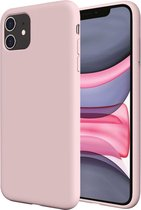 iphone 11 hoesje roze - iPhone 11 siliconen case - hoesje iPhone 11 apple - iPhone 11 hoesjes cover hoes