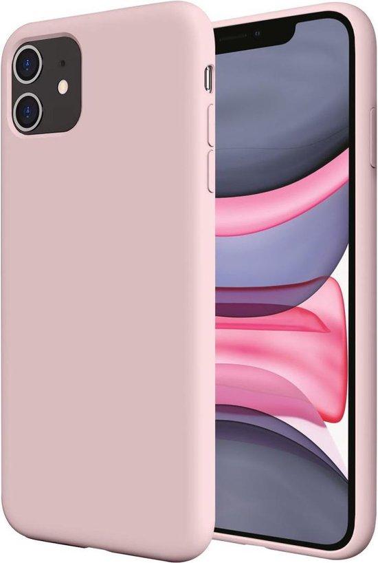iPhone 11 hoesje roze siliconen case  apple hoesjes cover hoes