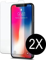 2X iPhone X Tempered glass screenprotector - iPhone X Screenprotector glas - Screenprotector iphone X Tempered Glass screen protector - screenprotector iphone X - iPhone X Screenprotector glas