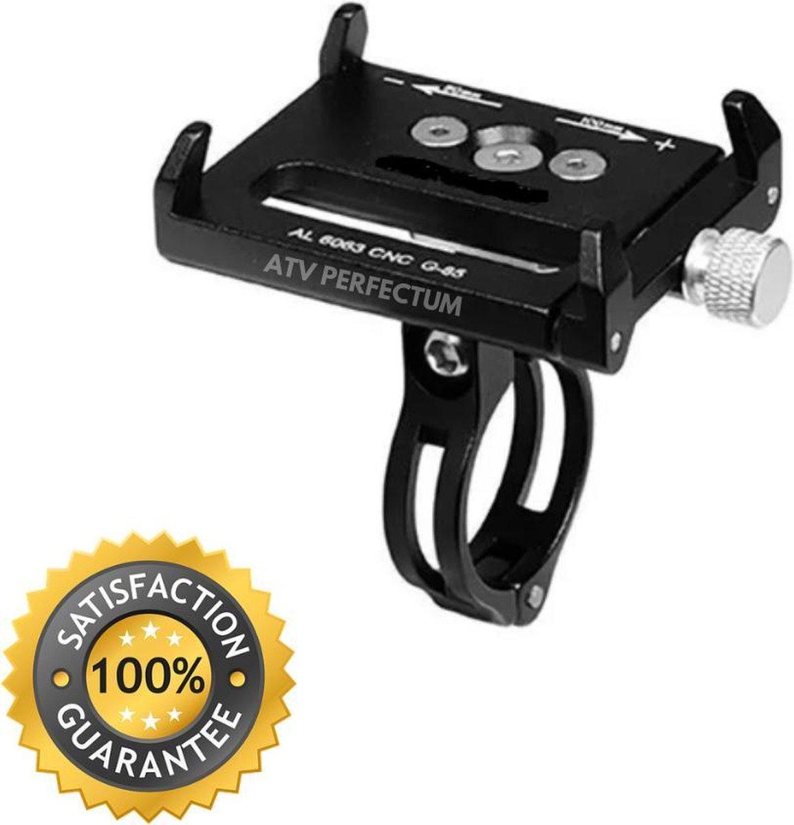 Verstelbare Aluminium Smartphone Fietshouder Zwart - fietshouder voor smartphones - telefoon houder