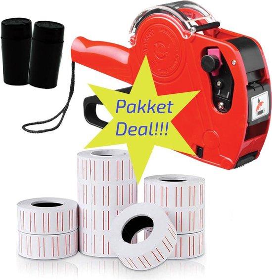 Afbeelding van Complete set prijstang , etiketten en inktrol starterspakket