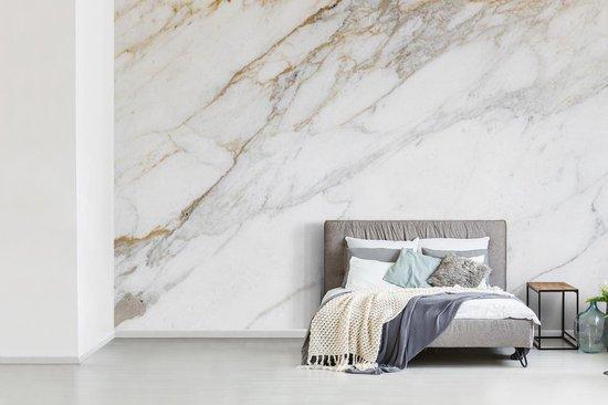 Fotobehang vinyl - Klassiek marmer achtergrond breedte 390 cm x hoogte 260 cm - Foto print op behang (in 7 formaten beschikbaar)