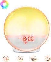 Wake Up Light – Wekker met 7 LED kleuren en radio – Wekkerradio met snooze – Nachtlamp