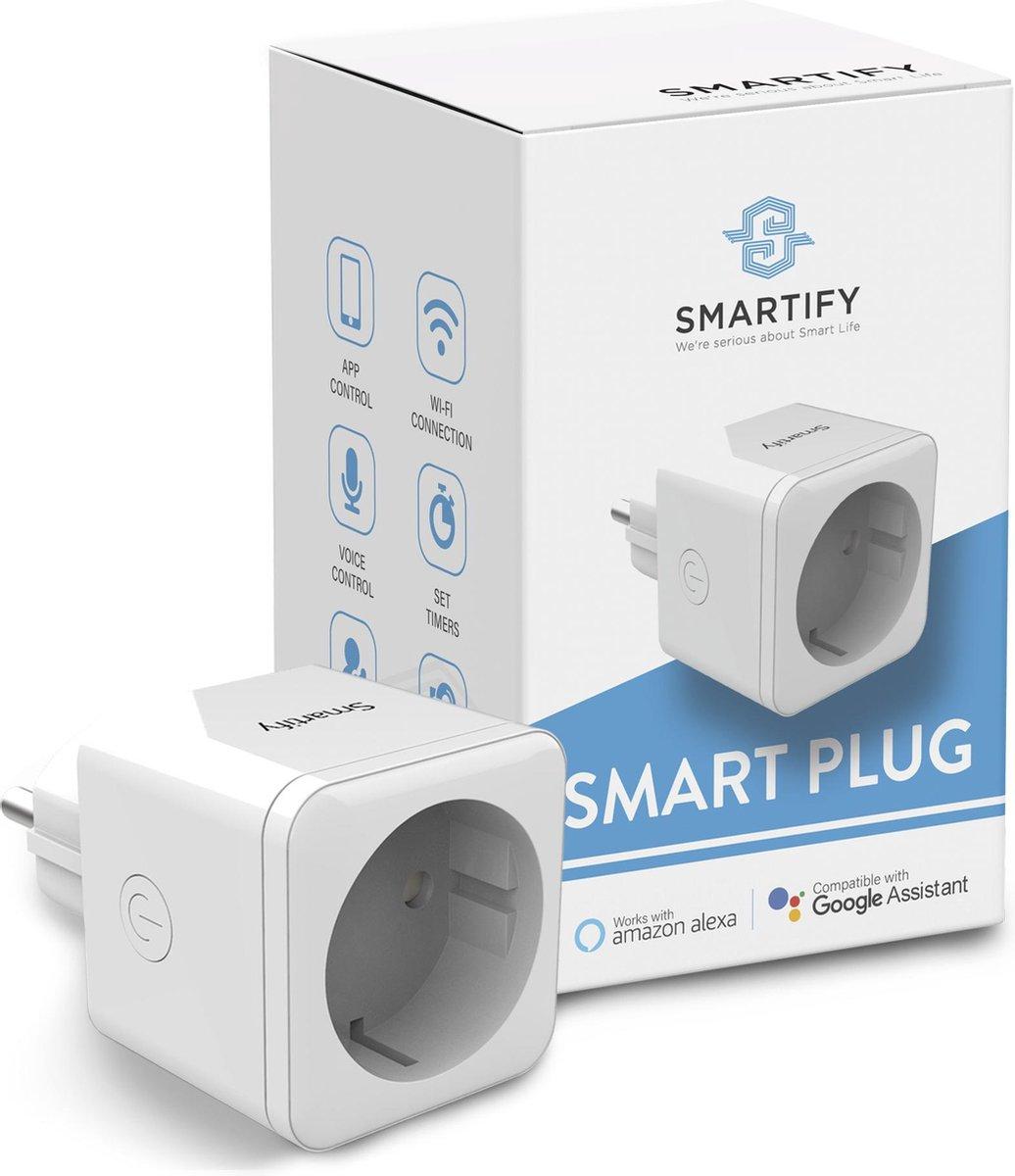 SMARTIFY Slimme Stekker - Smart Plug - Incl. Tijdschakelaar & Energiemeter