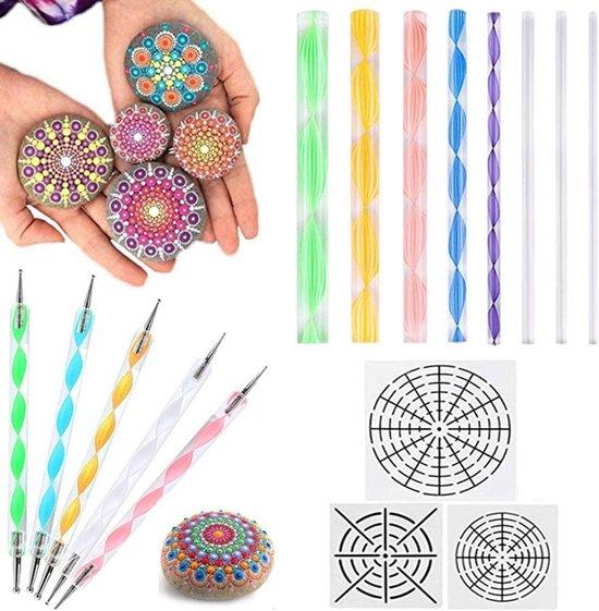 Afbeelding van Happy Painter® Mandala Dotting Tools - 16 delig speelgoed