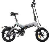 "Hitway 14F005 Elektrische Fiets E-bike | Opvouwbaar | 250W Motor | 7.5Ah | 16"" | Grijs / Zwart"