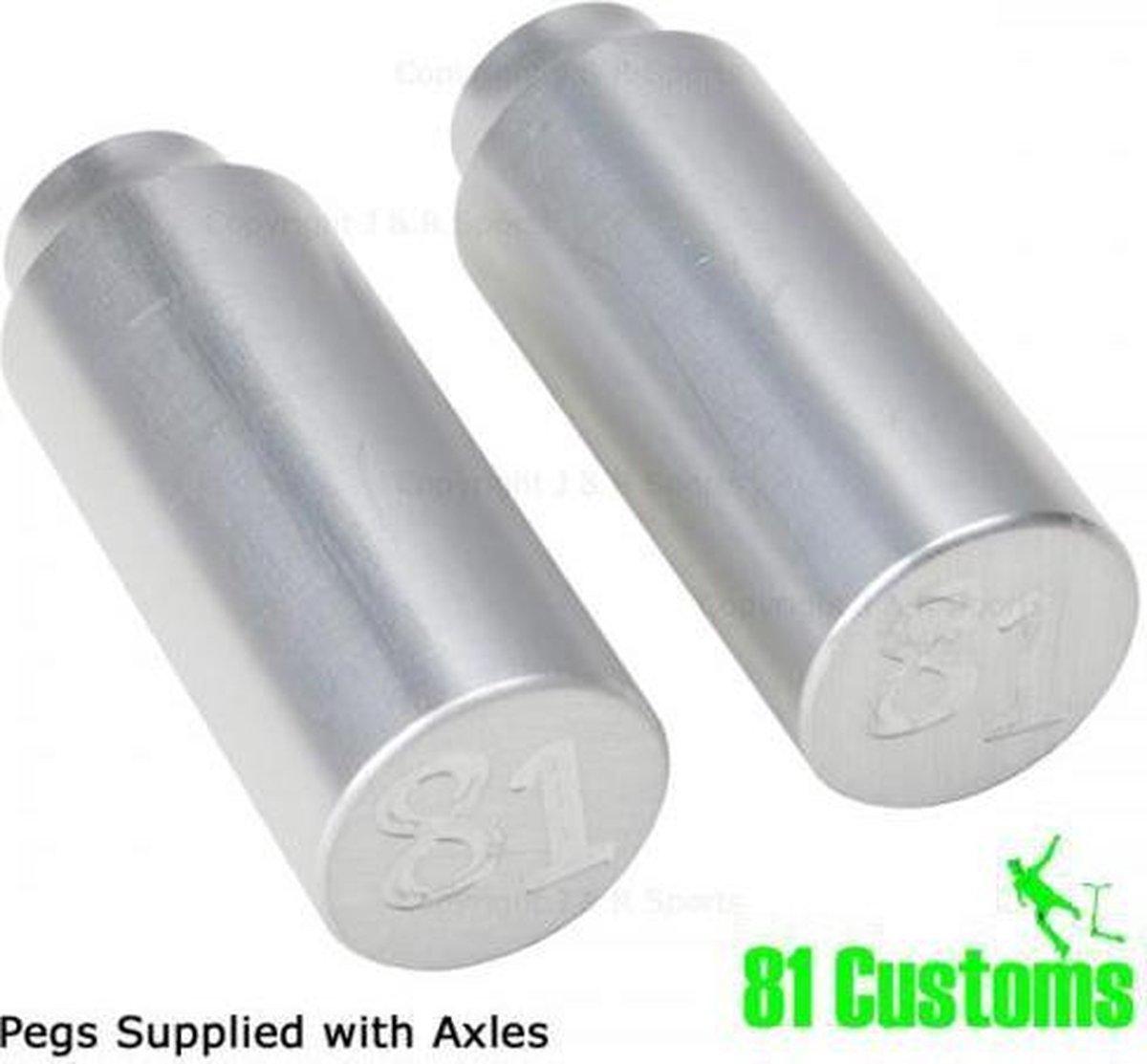Pegs 81 Custom - Silver stunt step (2 stuks)