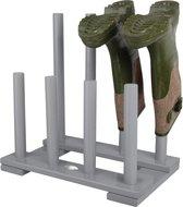 Houten laarzenrek grijs 42 cm - Rek/standaard voor laarzen/kaplaarzen