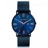 ZINZI ZIW514M horloge - band blauwgekleurd - 34mm + gratis Zinzi armbandje