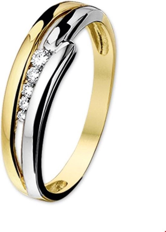 The Jewelry Collection Ring Diamant 0.096ct H Si - Bicolor Goud